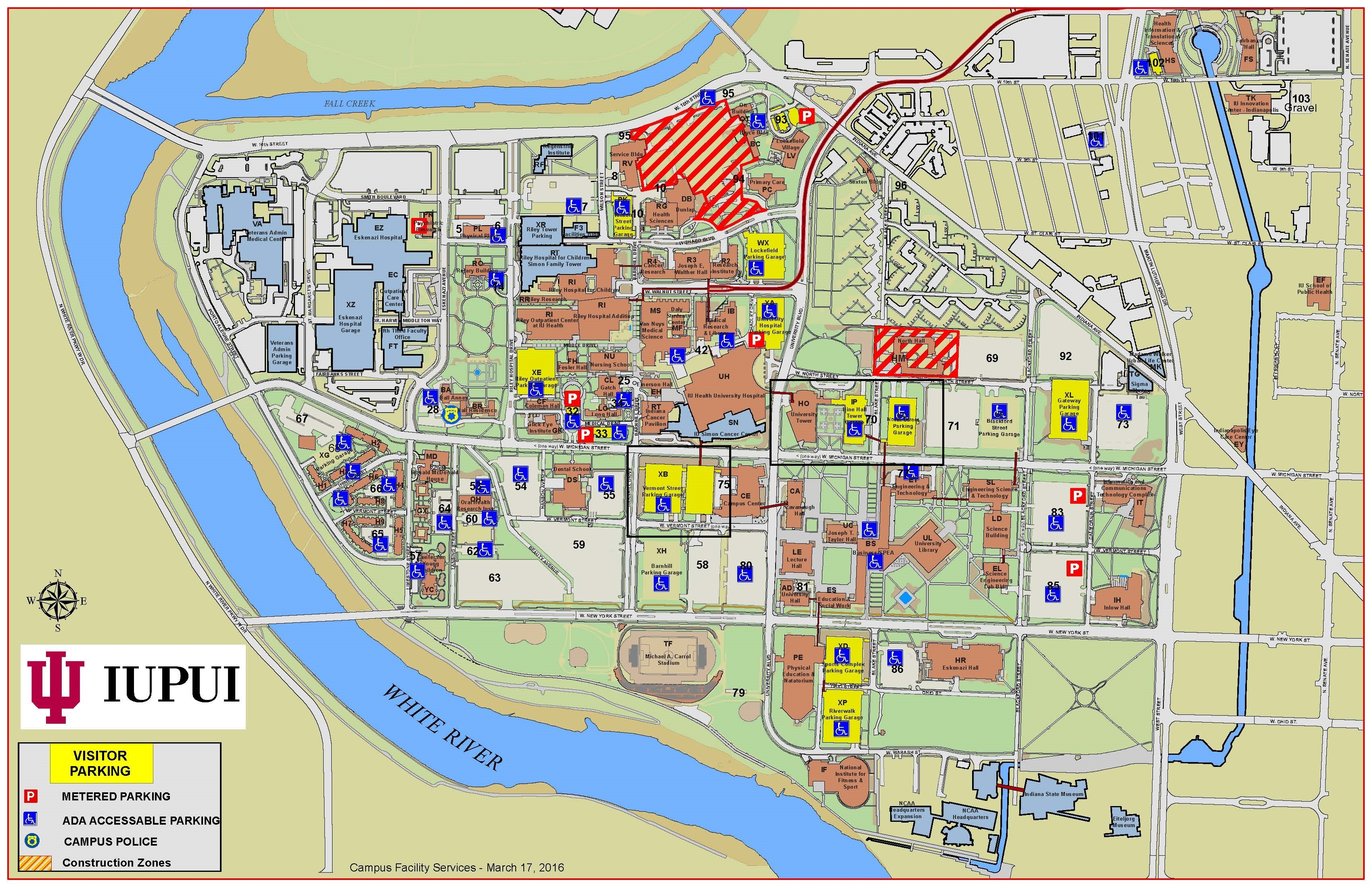 Iupui Parking Map Directions and Parking Information: 2017 IU Online Conference: IU